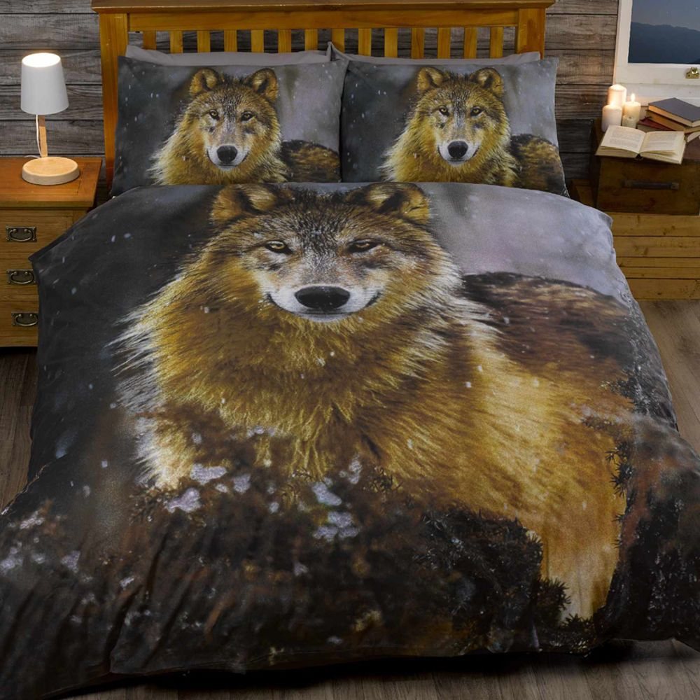 Home amp garden gt bedding gt comforters amp sets gt see more 7 pc faux fur - Animal Print Twilight Wolf Husky Dog Quilt Duvet Cover Bedding Set New