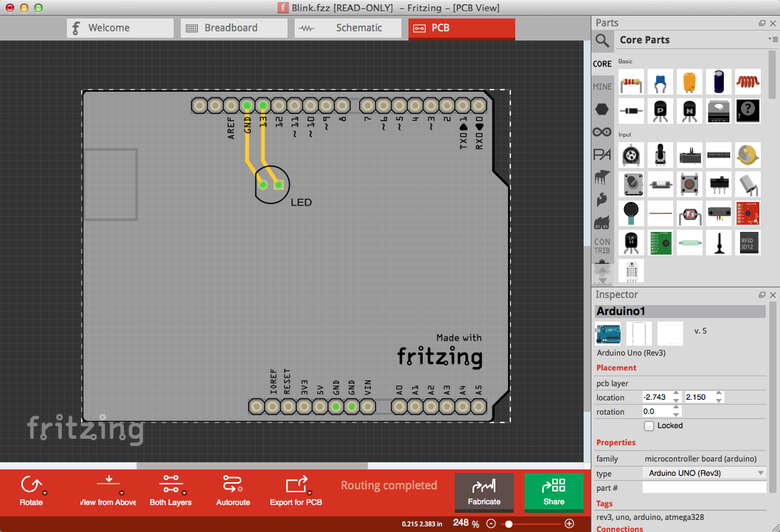 Fritzing program to design pcb opensource | Robot | Pinterest ...