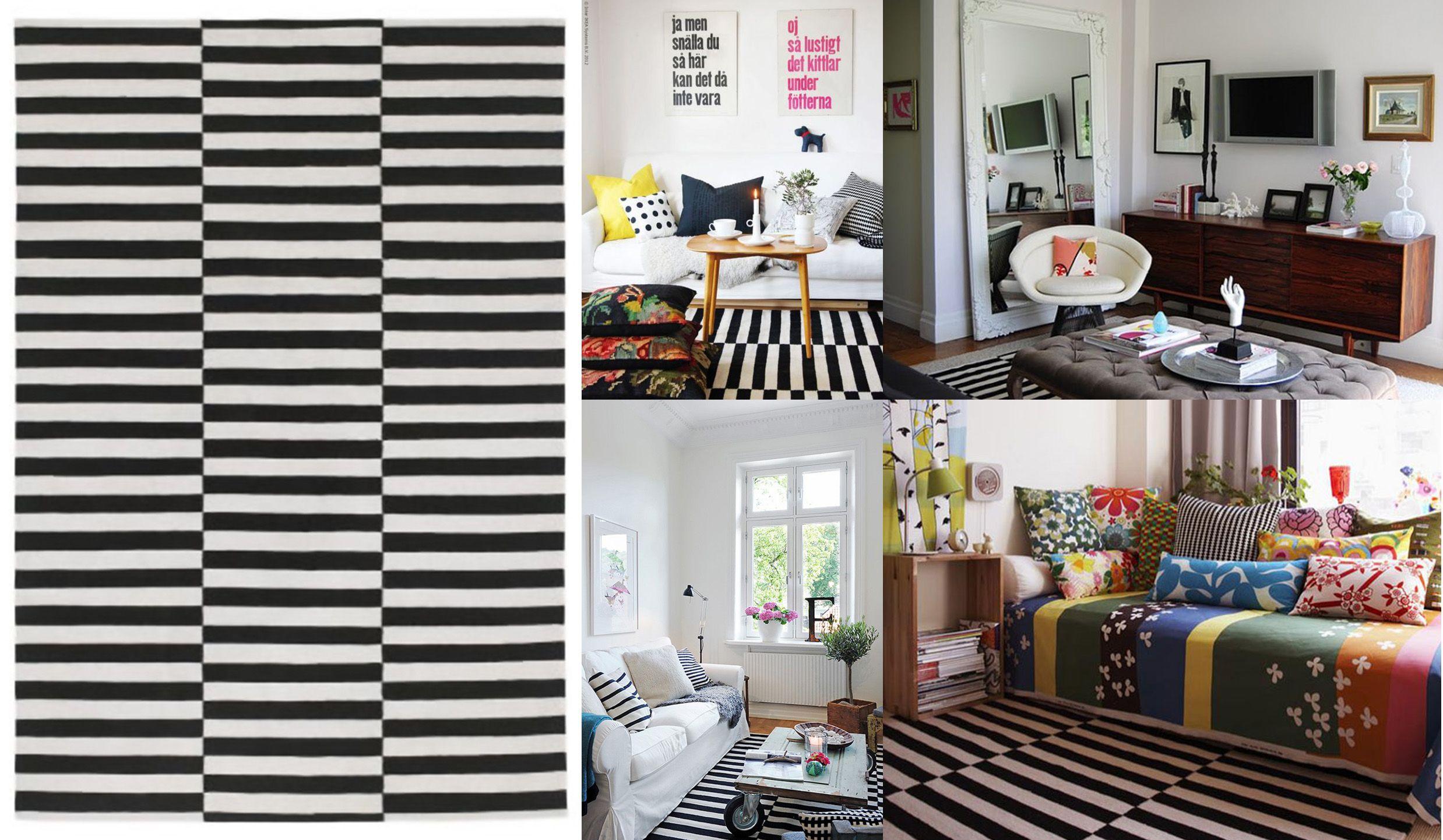 Listrado Tapete Ikea Jpg Mrandmrscalvet Home Decor Pinterest  -> Tapete Sala Listrado Preto E Branco
