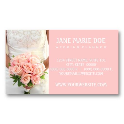 wedding planner business cards - Wedding Planner Business Cards