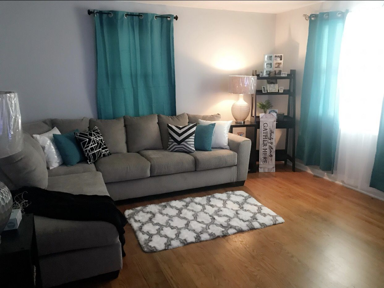 Best Teal Gray Living Room With Images Teal Living Room 400 x 300