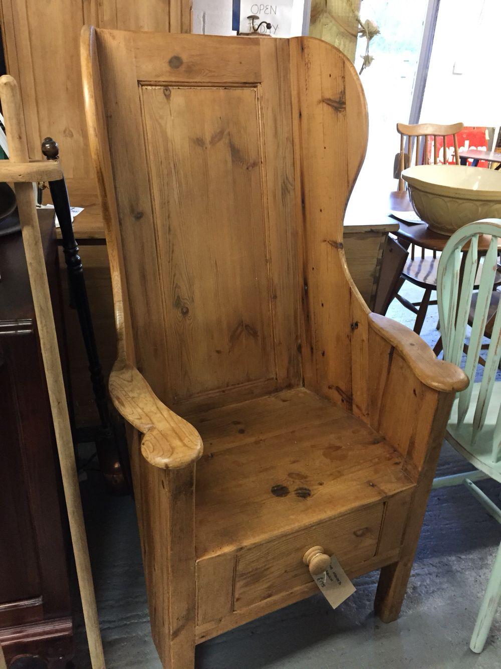 Vintage pine lambing chair www.vintagebyhelen.co.uk ...