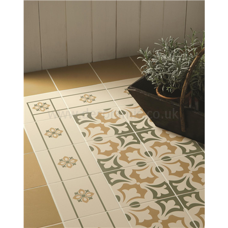 Original Style Tiles Bohemia Corner Khaki And Old London On White