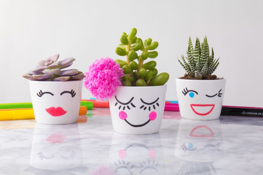 How to Make Decorative Flower Pots for a Mother's Day Craft #flowerpot