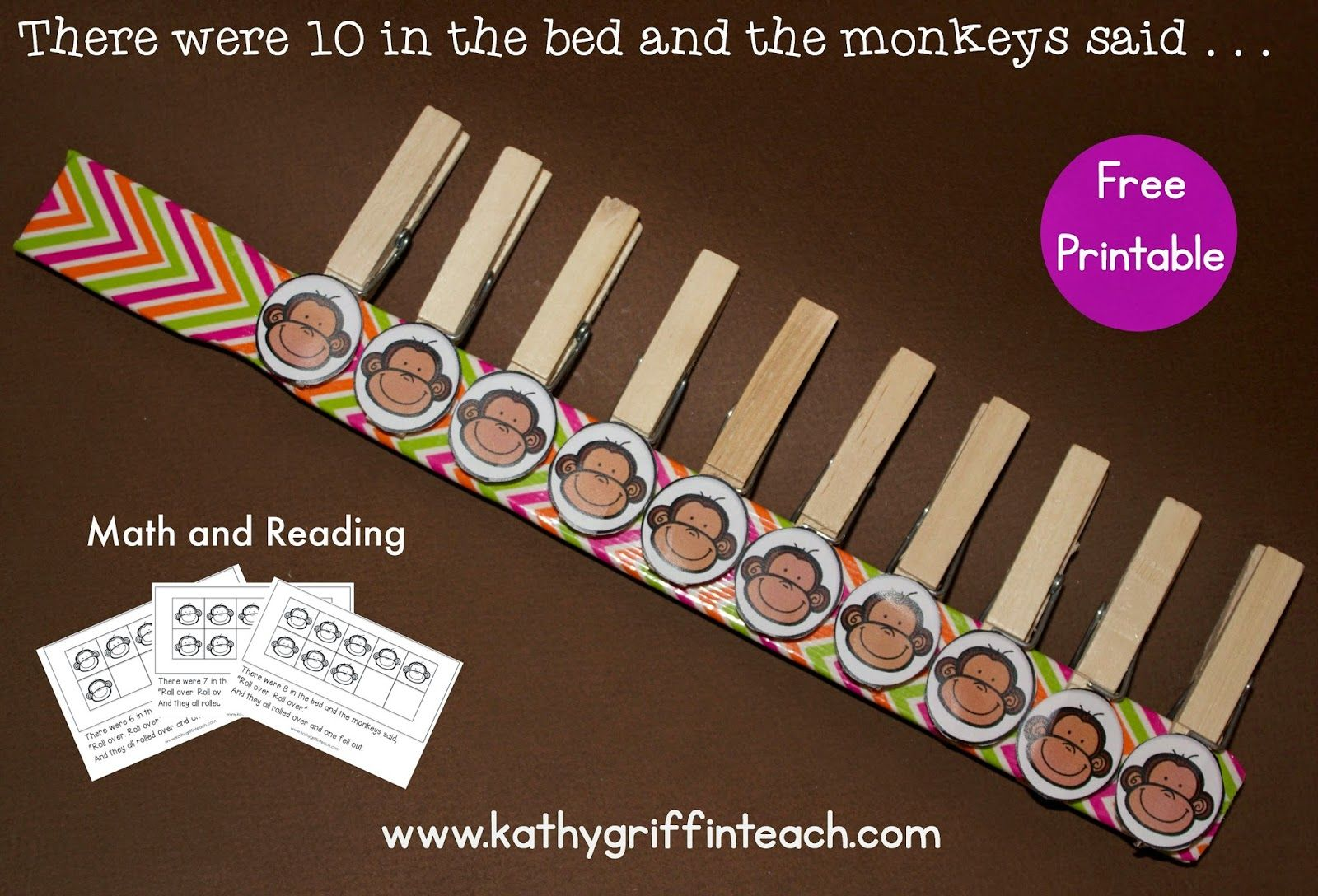 10 In The Bed Math And Literacy Activities Free