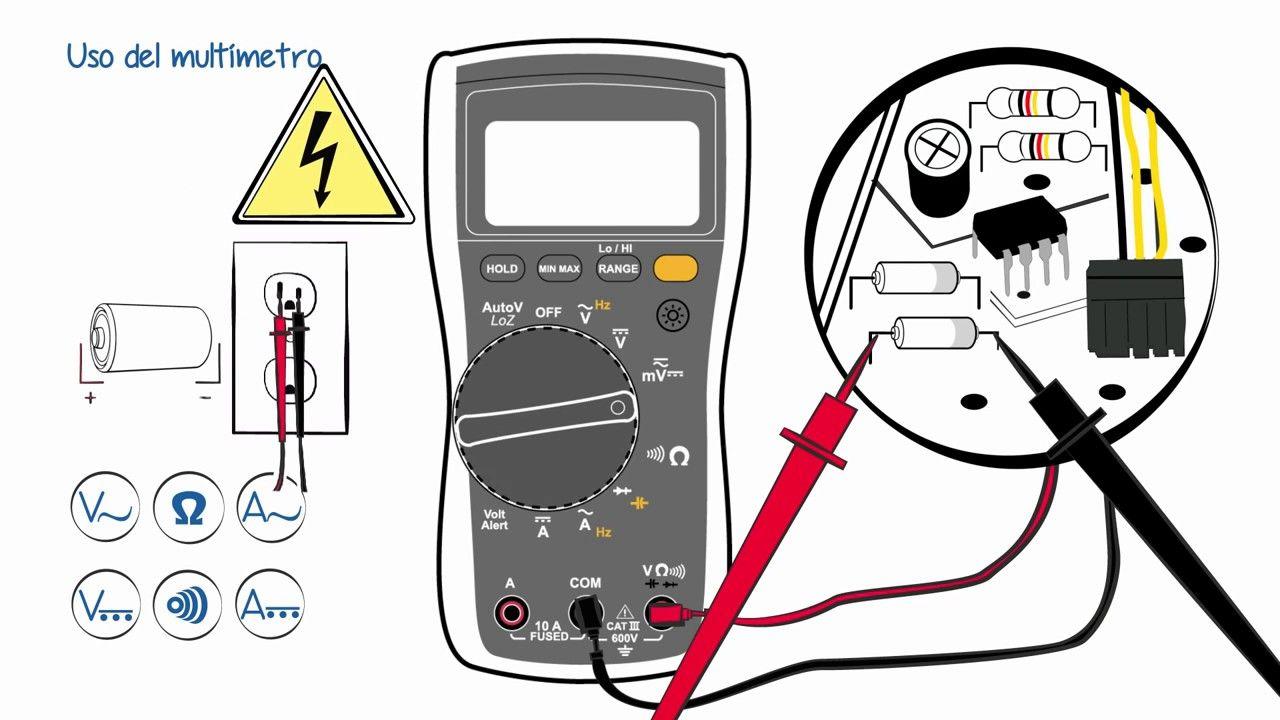 Uso Del Multímetro Instalación Electrica Electricidad Y Electronica Diagrama De Instalacion Electrica