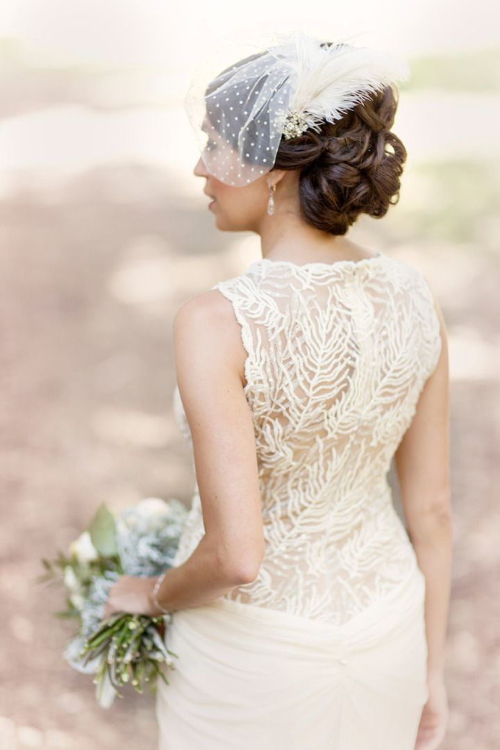 To see more gorgeous details about this SF wedding: http://www.modwedding.com/2014/11/06/chic-rustic-san-francisco-wedding-glass-jar-photography/ #wedding #weddings #hairstyle
