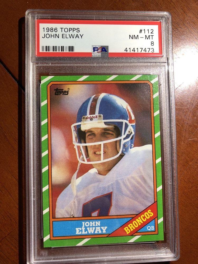 1986 topps john elway denver broncos 112 football card