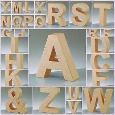 17.5cm Pappmaché groß Pappe Buchstaben Formen & Zeichen 3D Basteln ...