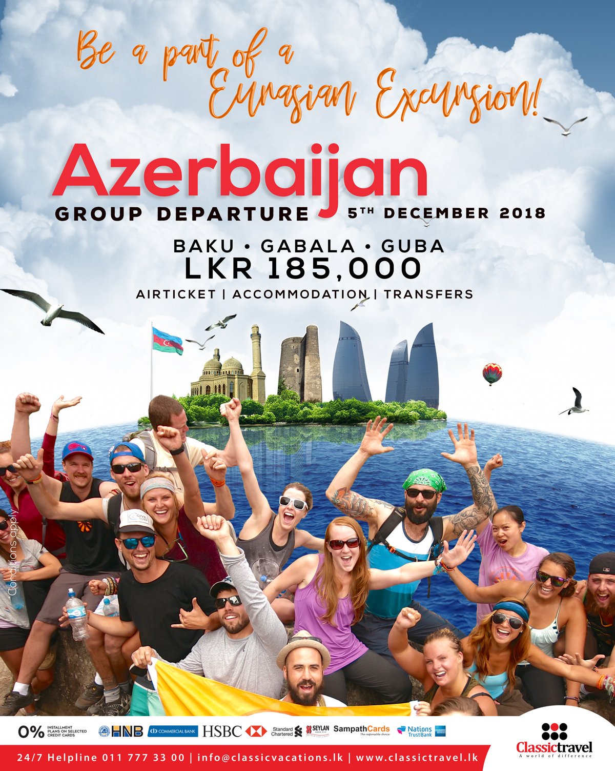 Explore Azerbaijan With Classic Travel Lkr 185 000 P P Call 117773300 Travel Explore Baku Guba Gabala Holidays Vacatio Travel Packages Travel Vacation