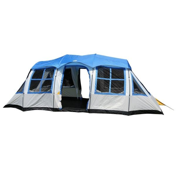 72dadcc7a4 Ozark Trail 10-Person 3-Room Vacation Tent with Built-In Mud Mat ...