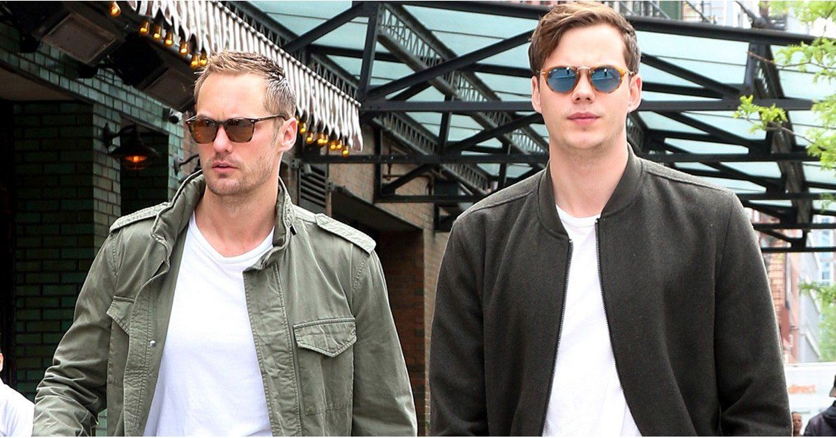 Alexander and Bill Skarsgard Have a Brotherly Outing in NYC