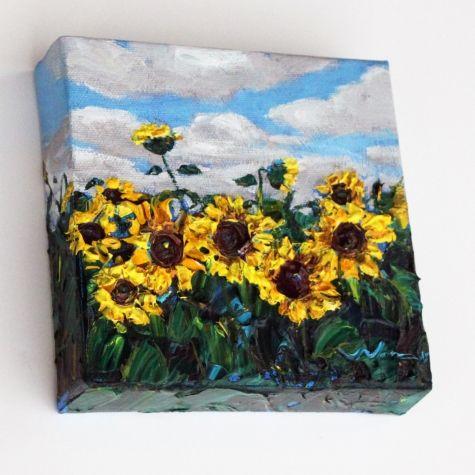 Yelllow Sunflowers Mini A Painting By Jennifer Vranes