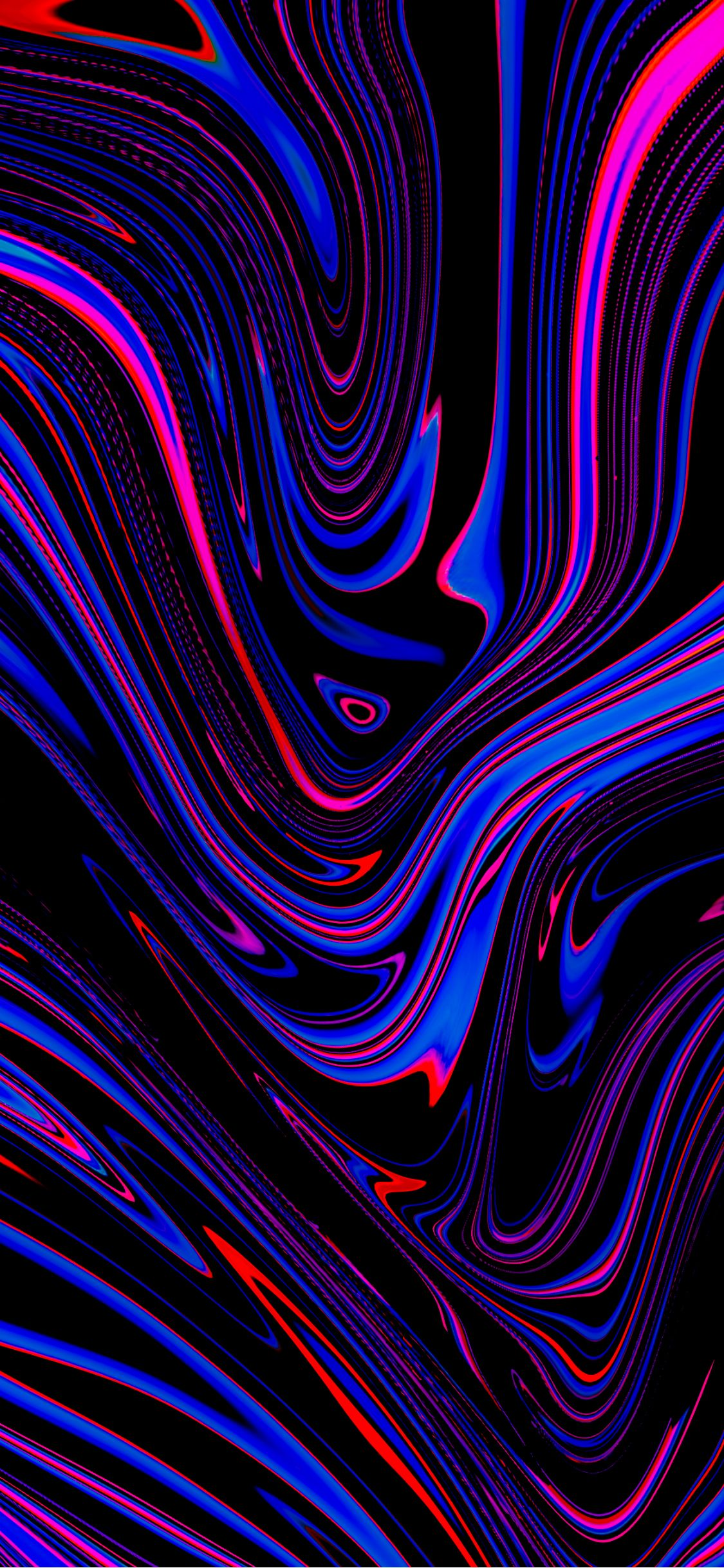 Liquid Fluid Art Abstraction Stains Colorful Wavy Art