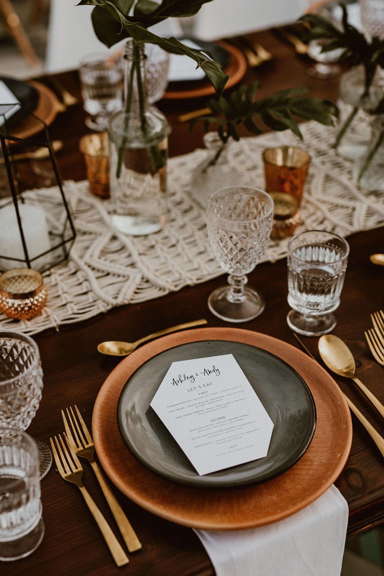 Trending Now: Dark Neutrals, Bold Lines and Masculine Wedding Details