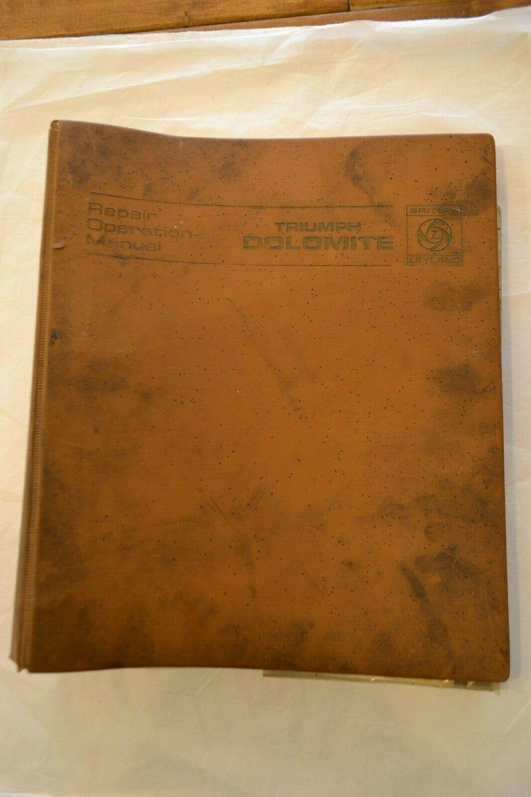 Triumph Dolomite Sprint Repair Operation Manual    1971