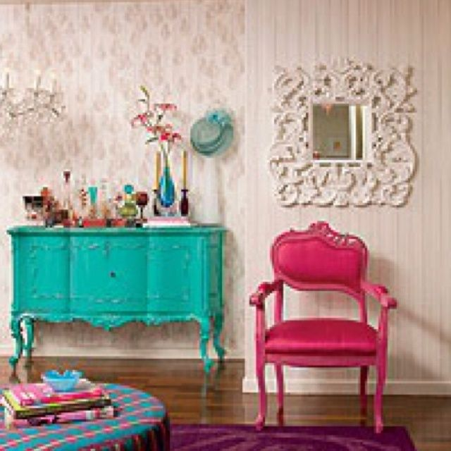 Turquoise Room Decor   Turquoise & hot pink room decor   Kids ...