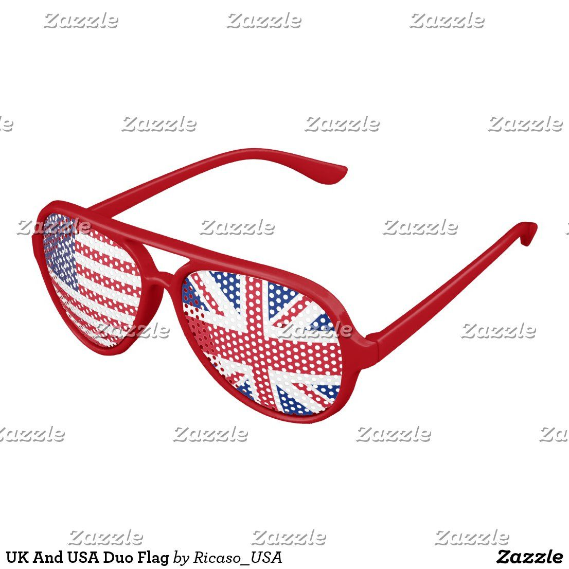 UK And USA Duo Flag Aviator Sunglasses | Zazzle.com