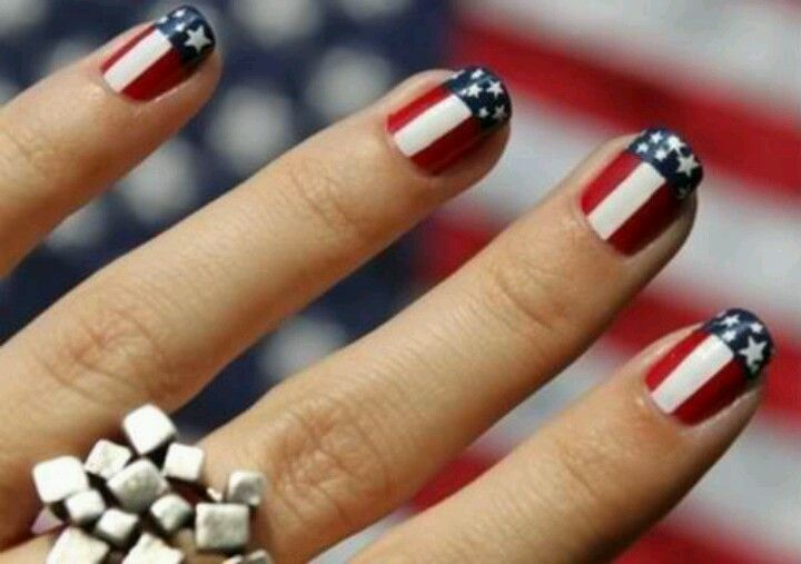 #Patriotic, #election, #4th #of #july, #american, #USA, #america, #nails, #design, #red, #white, #blue