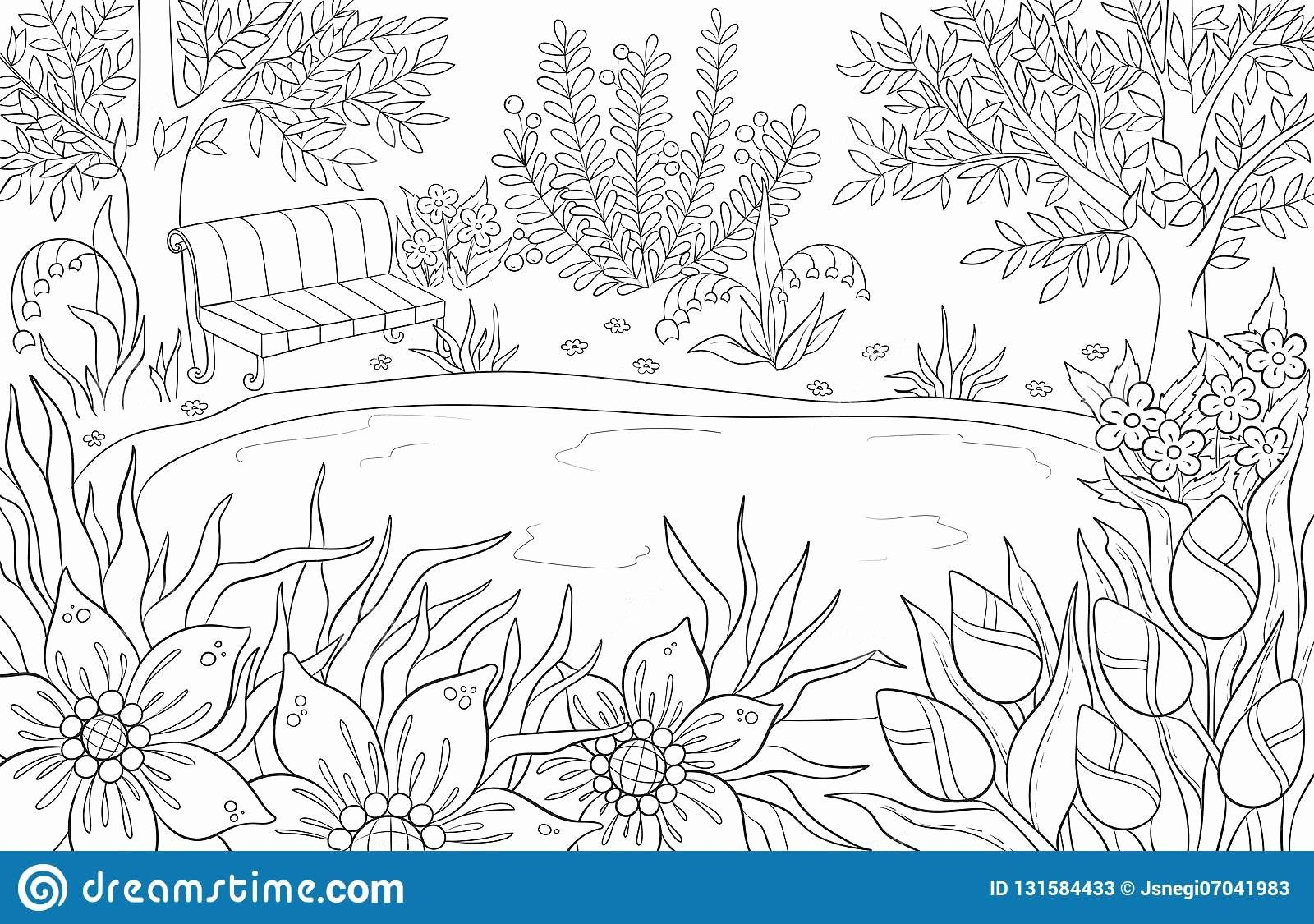 Coloring Flowers Water New Coloring Pages Lake Water Lily A Lake Flowers
