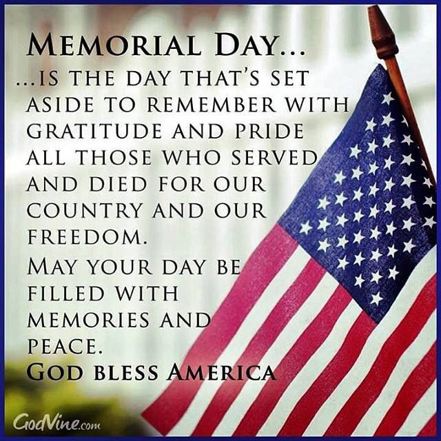 Memorial Day   Memorial day quotes, Memorial day thank you, Memorial day  message