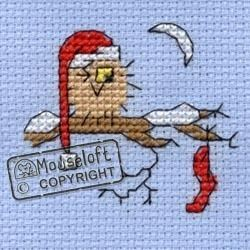 Stitchlets Christmas Card Cross Stitch Kit - Christmas Eve Owl                                                                                                                                                                                 More