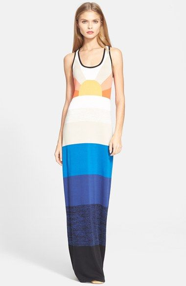 Free shipping and returns on Trina Turk 'Vassy' Colorblock Maxi Dress at Nordstrom.com. A radiant sun shines over the bodice of a sweater-knit tank dress cast with bold color-blocking.