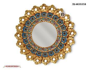 Decorative Wall Mirror 20.5x16.5in - Peruvian Arts Crafs Mirror ...