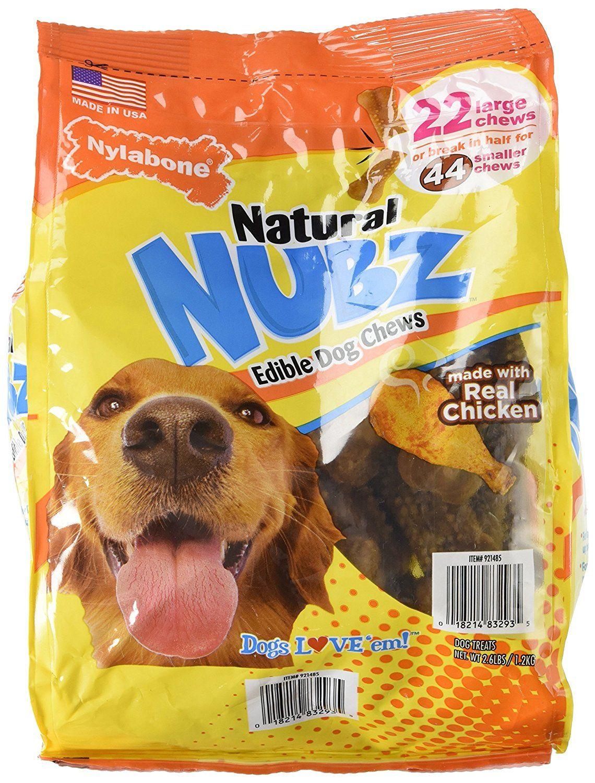 Nylabone Natural Nubz Edible Dog Chews 22ct 2 6lb Bag Click