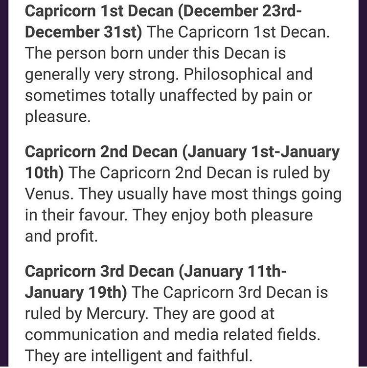 The Three Decans of Scorpio