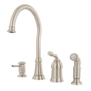 Superbe Kitchen Sink?? Moen Lindley Single Handle Side Sprayer Kitchen Faucet In  Spot