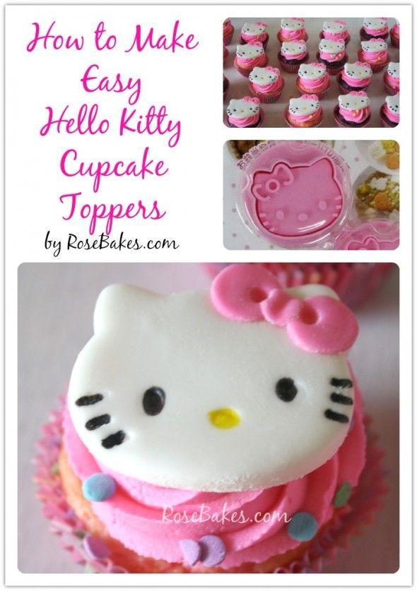 How to Make Hello Kitty Cupcakes Hello kitty cupcakes Hello