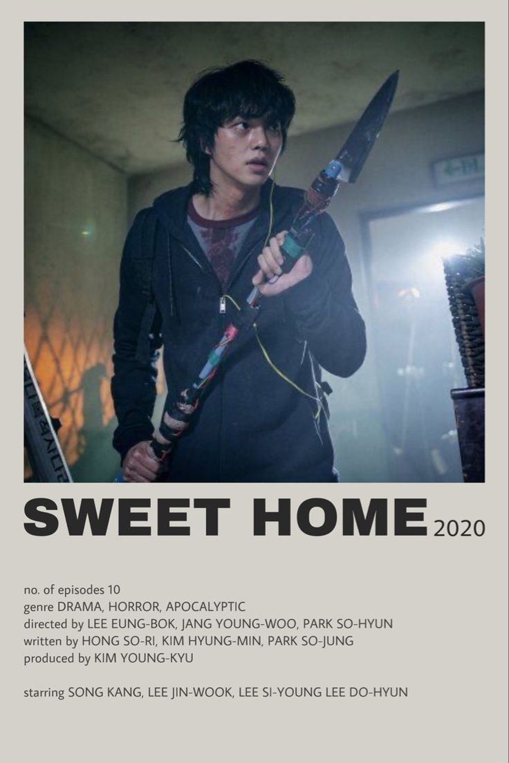 KDRAMA: SWEET HOME (poster made by me) en 2021 | Carteles de cine minimalistas, Poster de peliculas, Portadas de películas