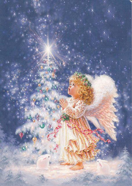 Anges De Noel Christmas Angel Greeting Card | Art de noël, Anges de noël, Image noel
