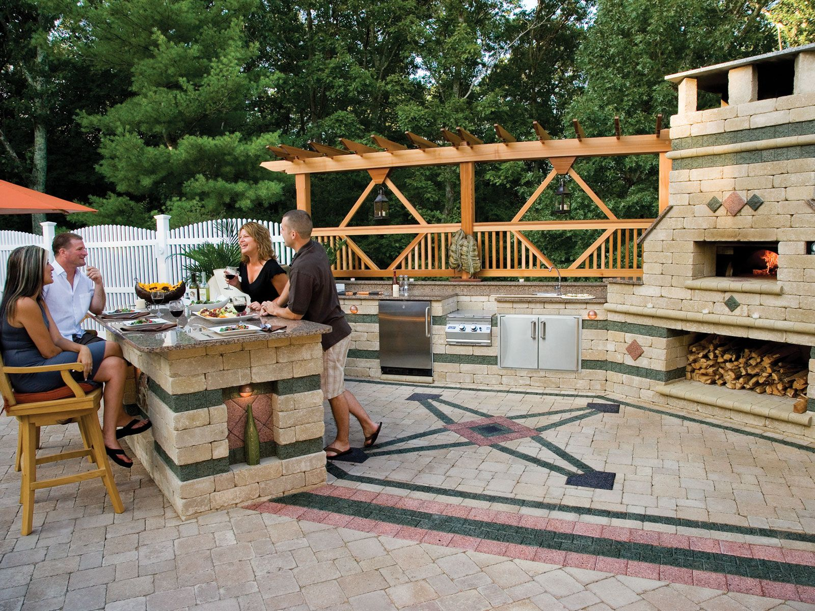 outdoor bbq fire pits design brussel block pavers with series