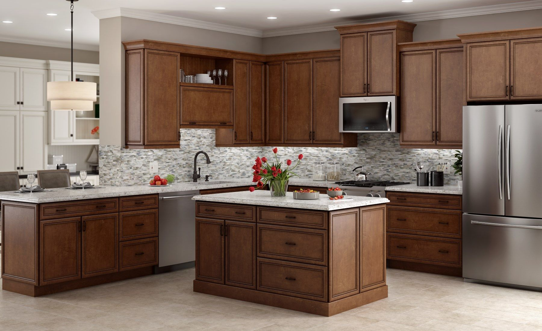 Image result for hampton bay cognac cabinets my new kitchen