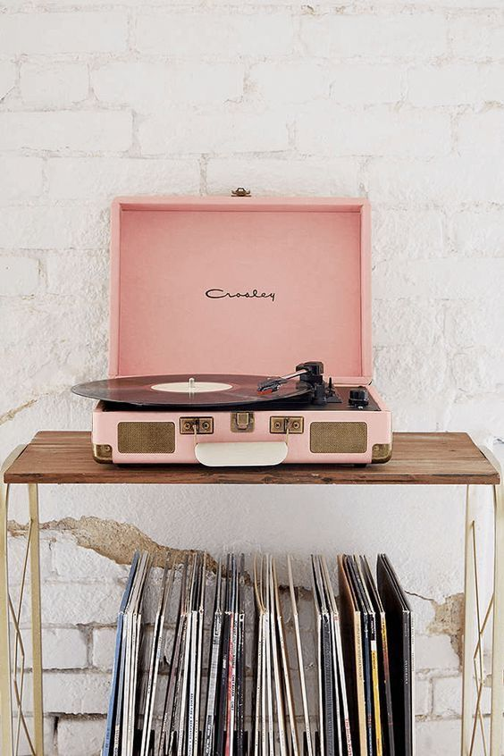 Dusty Pink Dorm Room