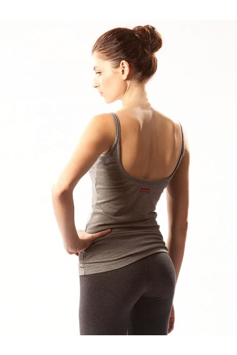 Scoop Back Tank With Bra