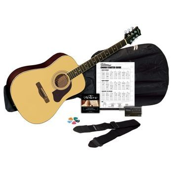 Silvertone Sd3000 Acoustic Guitar Bundle From Costco For 79 99 Bass Guitars For Sale Acoustic Guitar Kits Cheap Acoustic Guitars