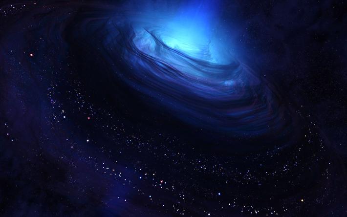 Download Wallpapers Blue Nebula 4k Stars Art Sci Fi Nebula Universe Galaxy Besthqwallpapers Com Blue Galaxy Wallpaper Wallpaper Space Galaxy Wallpaper