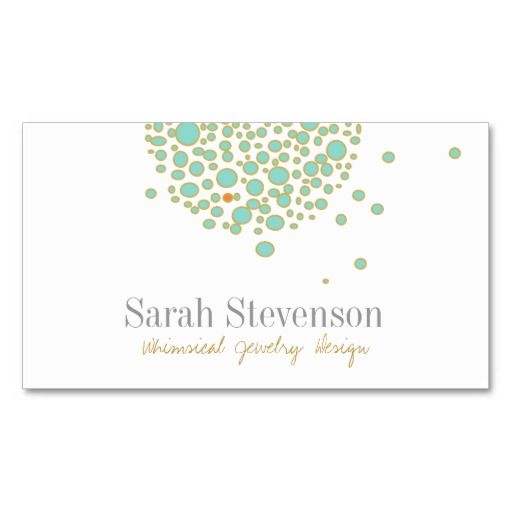 Whimsical Jewelry Designer Business Card Business Cards - Jewelry business card templates