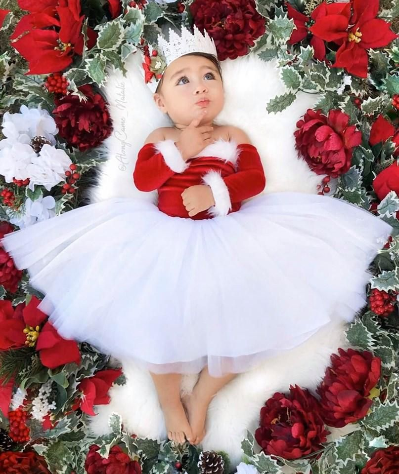 Photo of Santa Baby Nova Off the Shoulder Tutu Dress Santa Nova Dress