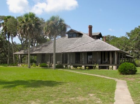 The wraparound porch of the historic homestead at Princess Place ...