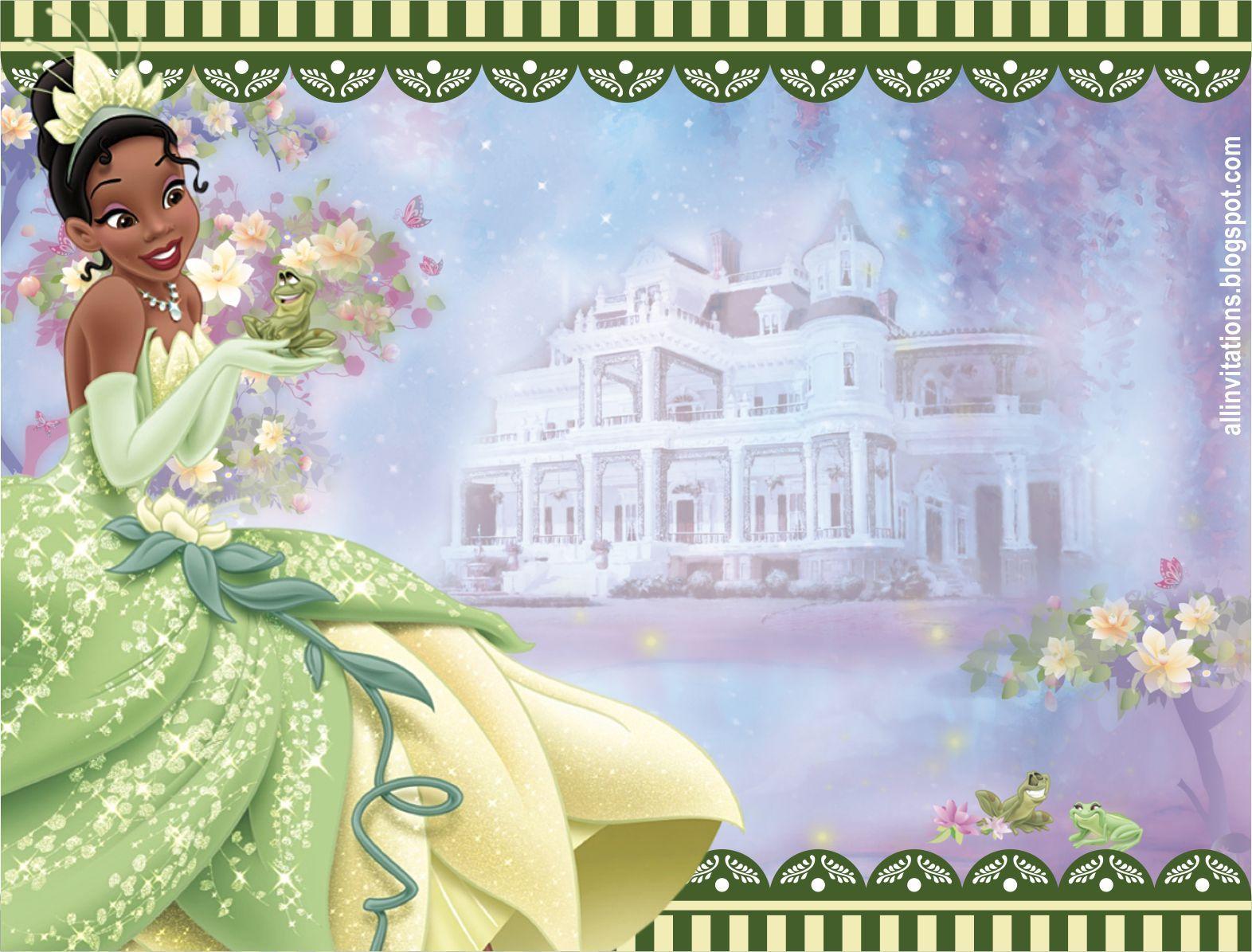 Plantilla de invitacion de la princesa tiana y el sapo - Sapos y princesas valencia ...