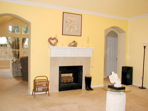 yellow living room, wall color | Paint Colors | Pinterest | Wall ...