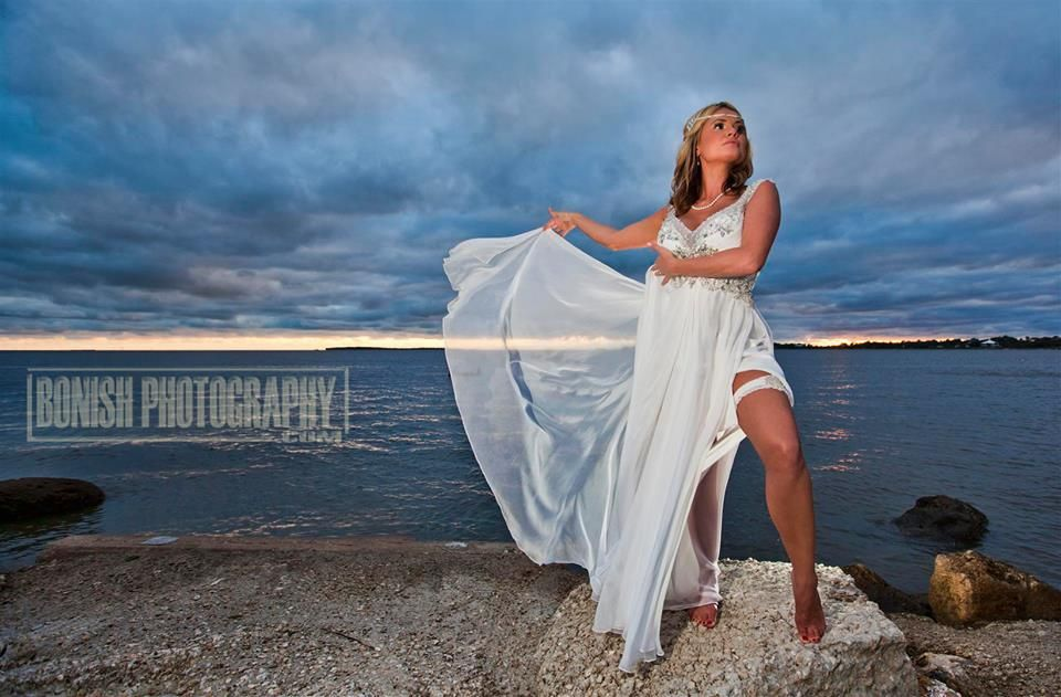 Cedar Key Sunset Wedding Photo By Pat Bonish