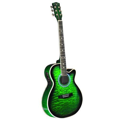 green acoustic guitar how cool is this guitars in 2019 guitar chords guitar electric. Black Bedroom Furniture Sets. Home Design Ideas