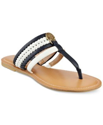 0fb0c7cd3 TOMMY HILFIGER Tommy Hilfiger Lady Flat Thong Sandals.  tommyhilfiger  shoes    all women