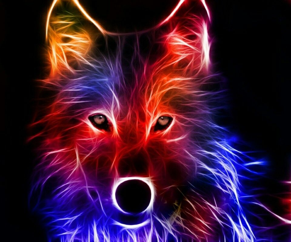 The Best Rainbow Abstract Wolf Wolf Wallpaper Cool Backgrounds
