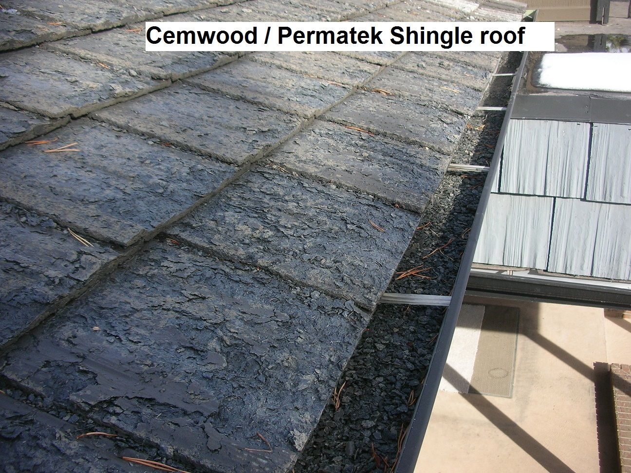 Permatek cemwood roof a lightweight tile roof that didnt stand permatek cemwood roof a lightweight tile roof that didnt stand up well in the field subject of manufacturer recalls and lawsuits ppazfo